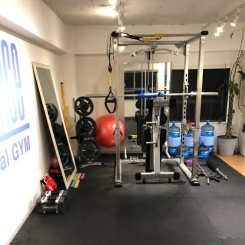 パーソナルトレーニングジム中目黒店のトレーニング器具