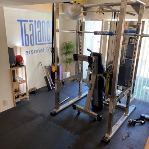 パーソナルトレーニングジムティーバランス麻布十番店トレーニングルーム