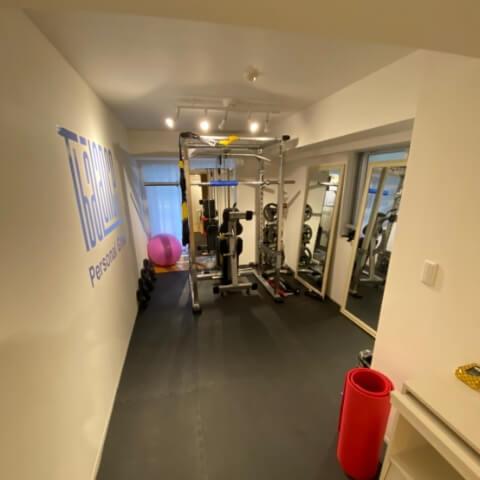パーソナルトレーニングジムティーバランス銀座店トレーニングルーム