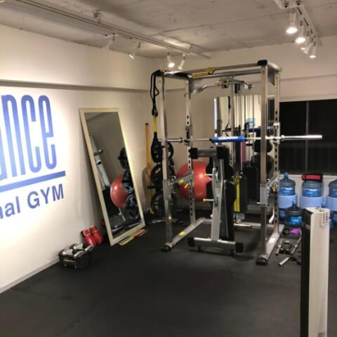 パーソナルトレーニングジムティーバランス中目黒店のトレーニング器具