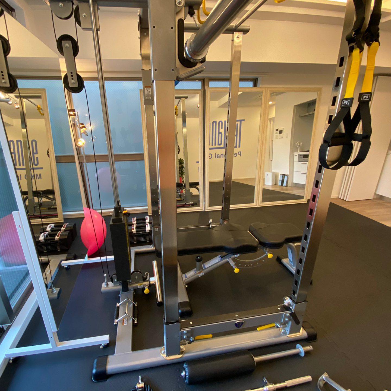 パーソナルトレーニングジムティーバランス四ツ橋店トレーニングルーム