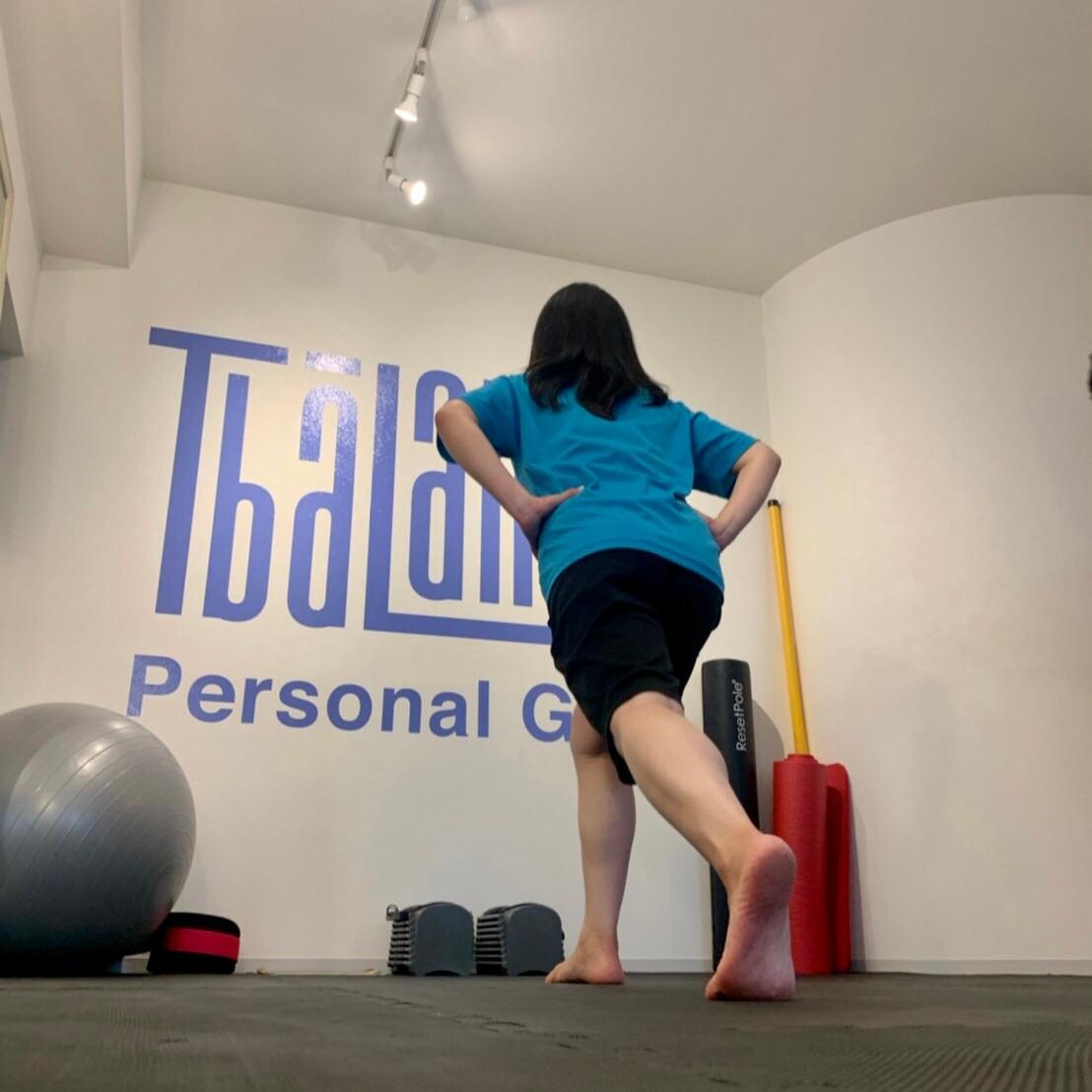 パーソナルトレーニングジムティーバランス秋葉原店の女性トレーニング風景